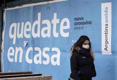 Los mensajes de prevención abundan en Buenos Aires