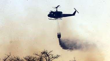 El trabajo aéreo ayudó a controlar las llamas