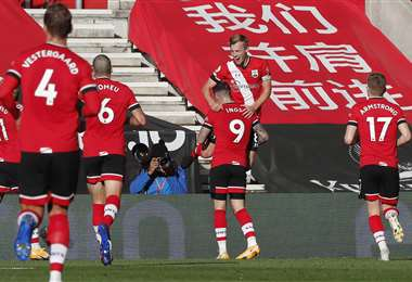 El festejo de los jugadores del Southampton. Foto: AFP
