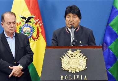 Durante el Gobierno de Evo, hubo labores conjuntas con el empresariado. Foto referencial
