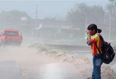 La ventolera de hoy es el anticipo de la lluvia y tormenta /Foto: J. Ibáñez