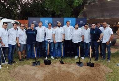 Hoy se iniciaron las obras del estadio Blooming Arena. Foto: Julio César Gómez