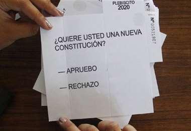 Esta era la única pregunta del plebiscito en Chile