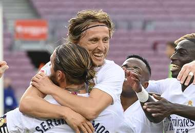 El Real Madrid le ganó por 1-3 al Barcelona, en el clásico español. Foto: AFP