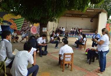 Una de las actividades realizadas en la red de bibliotecas