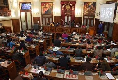La sesión del Legislativo I Senado.