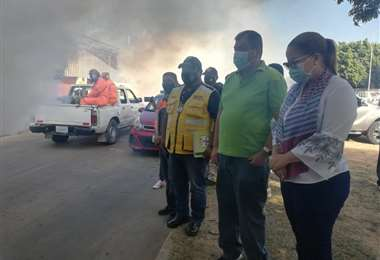 Municipio arranca campaña de fumigación contra el dengue. Foto. J. Delgadillo