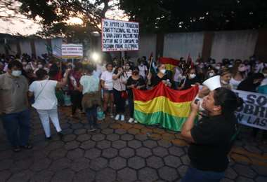 Hoy hubo otra jornada de protestas por autoconvocados en Santa Cruz /Foto: J. Gutiérrez