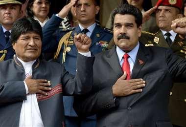 Evo Morales y Nicolás Maduro I archivo.