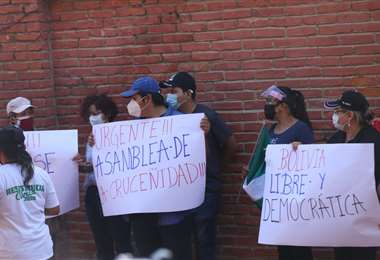 Se mantienen las manifestaciones en el Comité Cívico cruceño. Foto: Ipa Ibáñez