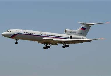 El Tupolev 154. Foto Internet