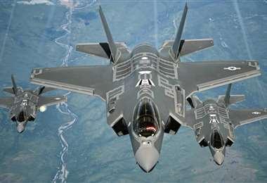 Un trío de cazas F-35. Foto Internet
