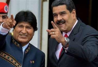 Evo Morales y Nicolás Maduro. Archivo