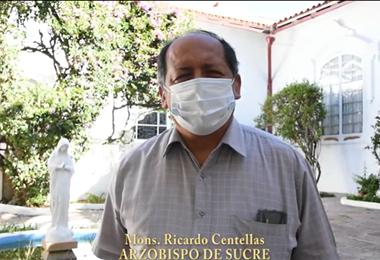 Monseñor Ricardo Centellas, presidente de la Conferencia Episcopal Boliviana