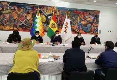 La reunión fue hoy, en La Paz. Foto: ABI