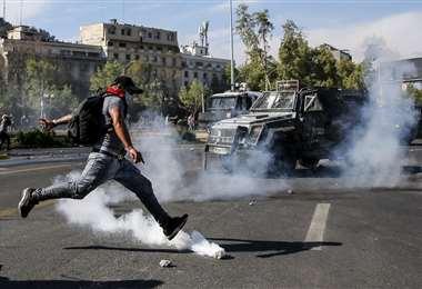 La protesta prosigue en Chile. Foto AFP