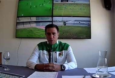 César Farías, DT de la selección boliviana. Foto: Captura video