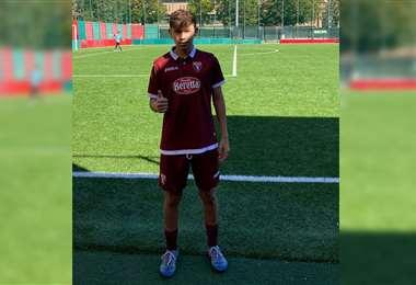 Alan Chaparro ya viste los colores del Torino. Foto: Proyecto Bolivia 2022