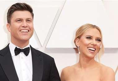 Scarlett y Colin se comprometieron en 2019