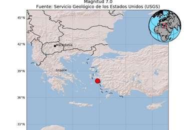 Sismo en Turquía y Grecia
