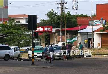 En Santa Cruz este viernes se sumaron los bloqueos en algunas arterias. foto: Jorge Ibáñez