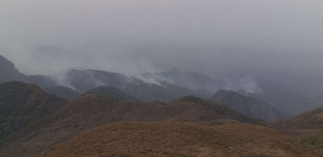 El incendio forestal está cerca del límite con la jurisdicción municipal de Villa Montes