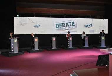 El debate presidencial fue realizado en La Paz. Foto : Daniel Miranda APG