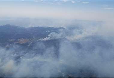 Foto referencial, incendios en los Valles cruceños