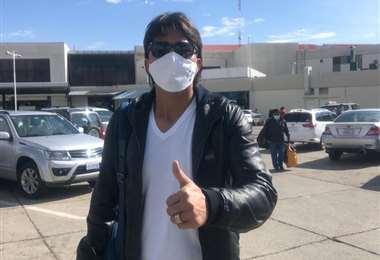 Marcelo Martins ya está en La Paz con la selección. Foto: FBF