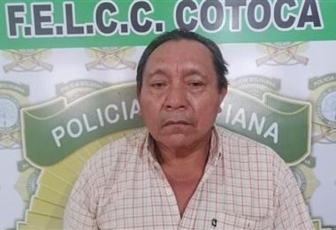 Miguel Maco, acusado de ser loteador en Guarayos. Foto. Desther Ágreda