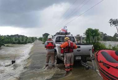 Operaciones de rescate en Chiapas. Foto Cuarto Poder