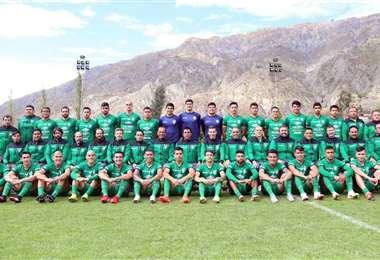 La fotografía grupal de la Verde. Foto: Prensa FBF