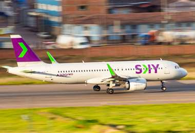 El vuelo llegó desde Santiago. Foto Internet