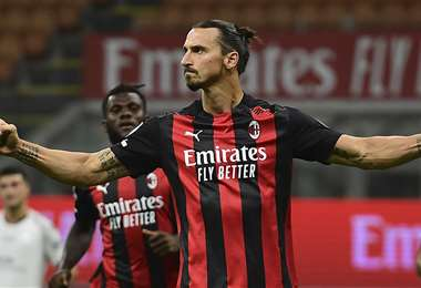 Zlatan Ibrahimovic, delantero del Milan. Foto: AFP