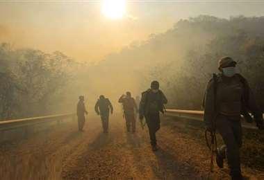 Hay 57 incendios activos, según el Gobierno. Foto: Ipa Ibañez