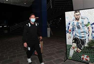 Lionel Messi se unió a la concentración este lunes. Foto: Internet