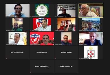La reunión virtual del Viceministro de Deportes con los clubes fue este lunes. Foto: VD