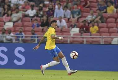 Neymar, figura de la selección brasileña. Foto: AFP