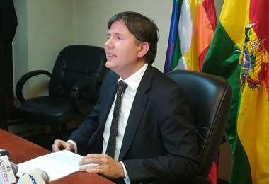El director departamental de la Procuraduría de La Paz, Fabio Joffré.