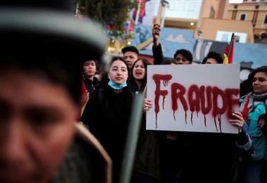 Muchos protestaron contra los resultados de los comicios de 2019. Foto. Internet