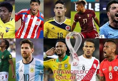 Figuras de las 10 selecciones que jugarán las eliminatorias rumbo a Catar 2022.