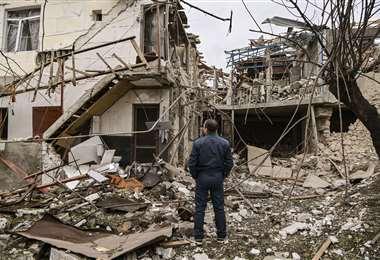 Los bombardeos afectan a la población civil. Foto: AFP