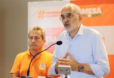 Conferencia de prensa de Carlos Mesa (Foto: Ricardo Montero)