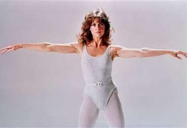 Jane grabó videos de aeróbicos entre 1982 y 1985 y se distribuían en VHS