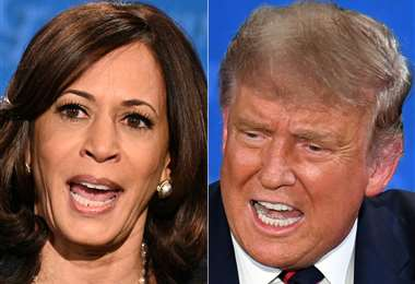 Kamala Harris y Donald Trump. Foto AFP