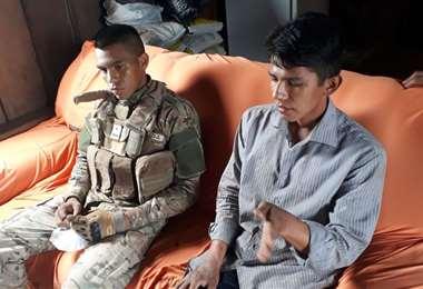 Los dos militares bolivianos están ilesos.