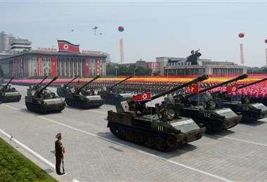 Norcorea alista un desfile pomposo. Foto AFP