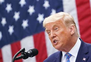 Trump descartó un debate virtual. Foto AFP
