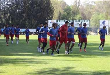 Los jugadores se entrenaron este jueves. Foto: Prensa Wilstermann
