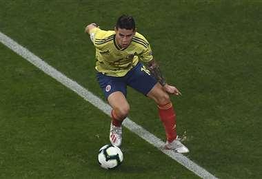 James Rodríguez, mediocampista de la selección de Colombia. Foto: AFP